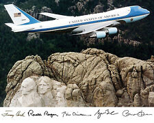 Air Force One Clinton Ronald Reagan Bush Obama Autograph 8x10 Photo Picture # g3