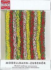 (5,06€/m) BUSCH 7152 H0 / TT / N, Blühende  Hecken, 104,5 cm lg, 10 mm hoch