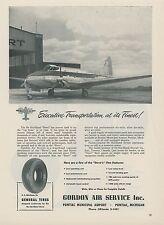 1952 Gordon Air Service Ad Pontiac Michigan de Havilland Dove Dealer Repair