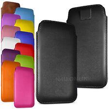Premium Soft Pu Cuero tire Flip Tab Funda Bolsa Para Varios Teléfonos Móviles