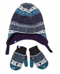 Levi's 2 Piece Hat & Mitten Set ~ Fair Isle Print ~ New With Tags