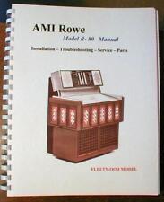 Rowe Model R-80 Jukebox Manual
