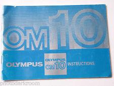 Olympus OM-10 35mm Film Camera Manual Instruction Book - English - USED B11