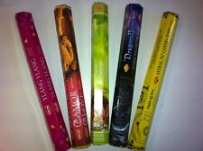 SAC/HEM/MM STICK INCENSE 20 PER BOX MULTIPLE TYPES LOT OF 5 FREE SHIPPING IN US!