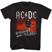 AC/DC Highway To Hell T-shirt ACDC Licensed 100%Cotton Mens Adult Tee Black New
