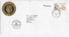 FRANCE PAQUEBOT COVER; EARL GRANVILLE CACHET;GUERNSEY CANCEL TO SG 2729 FRANCE.