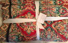 Pottery Barn Full/Queen Harlow Wholecloth Quilt NWT! F/Q Red Bohemian Christmas