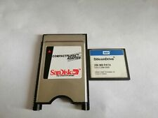 SiliconDrive  256MB CF with Compact Flash Card adapter PC PCMCIA Card