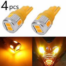 JDM ASTAR 4x T10 Wedge Amber Yellow LED Marker Corner Signal Light Bulbs 194 168