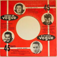 JOHNNY HALLYDAY Pochettes Vogue Originale Juke Boxe 45 Tours années 60