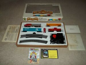 Vintage Rare Bachmann Diesel Hustler HO Scale Electric Train Set & Papers 40-102