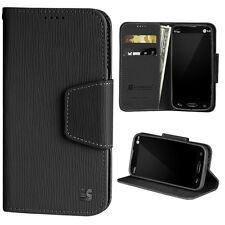 LG Optimus L90 W7 D415 Folio Wallet Pouch Case w/Card Slot+Magnetic Flap Cover