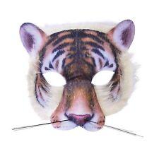 TIGER FACE realistico PELLICCIA Maschera Per Animali e Natura Fancy Dress Party