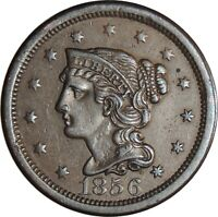 1856 1C Braided Hair Large Cent  AU Condition   (050221311)