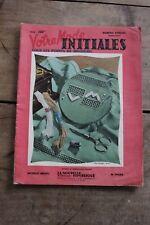 Ancienne revue Votre Mode - Numéro spécial - Initiales aux points de Broderie