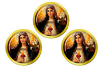 Sainte Mère Mary Sacred Heart Marqueurs de Balles de Golf