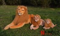 90cm Giant Big Stuffed Simulation Lion Plush Soft Toy Lying Doll Gift Home Decor