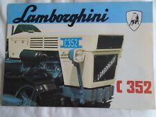Lamborghini C352 Tractor brochure undated English text