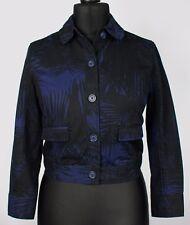 Proenza Schouler Jacket Blazer Black Blue Size 10 Petite EXCEPTIONAL QUALITY 866