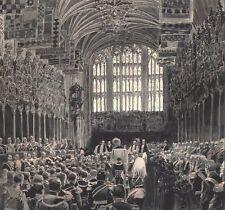 Obsèques Reine Victoria. Service Funèbre St Georges Chapel 1901. Encre et lavis