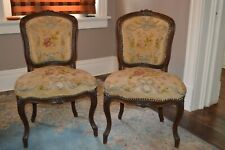 Period Louis Xv (pair) Fauteulin Chairs C 1750