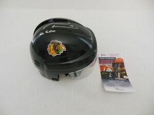 MARIAN HOSSA Signed Autographed CHICAGO BLACKHAWKS Black Mini Helmet w/JSA COA
