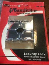 Bandit Bar Burglar barrier security lock sliding glass door Barton Kramer New