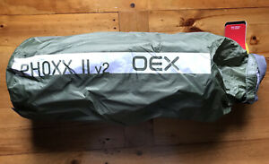 OEX Phoxx 2 v2 Compact Lightweight Low Profile Backpacking Tent 2 Man in Olive