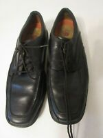 Clarks Unstructured Mens Size 9W Black Leather Casual Lace Up Oxford Shoes