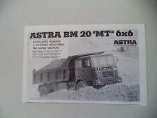 advertising Pubblicità 1978 AUTOCARRO ASTRA BM 20 MT 6X6