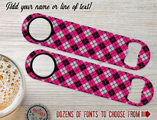 Argyle Pattern Personalized Bartender Bar Blades Custom Speed Bottle Openers