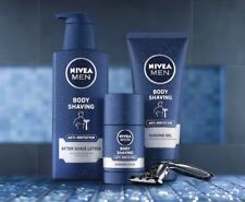 3 x Nivea Men Body Shaving Products - After Shave Lotion + Shaving Stick + Gel