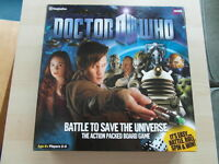 DR WHO BATTLE TO SAVE THE UNIVERSE BOARD GAME (complete)