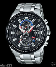 EFR-550D-1A Black Casio Men's Watches Edifice Date Alarm Dual dial world time