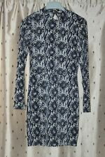 H&M Divided ~ Ladies Snakeskin Print Backless Dress With Stretch ~ Size Uk 8