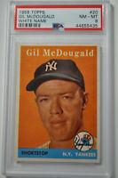 1958 Topps - Gil McDougald - #20 - PSA 8 - NM-MT