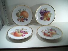 BAVARIA GERMANY ORCHARD PLATES -TOTAL OF 4 PLATES/HOLDER - GOLDEN CROWN E&R 1886