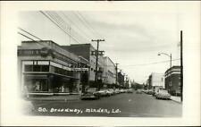 Minden Louisiana LA South Broadway Drug Store Real Photo Postcard