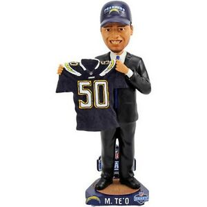 Manti Teo San Diego Chargers Draft Day NFL Bobblehead NIB Forever Collectibles
