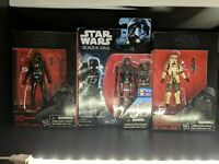 Hasbro Star Wars 3.75  Rogue One Scarif Trooper, Death Trooper and K2SO