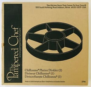 """Pampered Chef Chillzanne Platter Divider #2786 Plastic 14"""" 6 Sections + Bowl"""