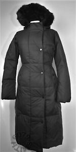 BN Zara Long Black Fitted Down Parka Size Xs RRP £119