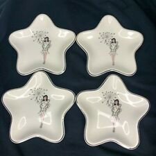 Vtg Fairy Star Shaped Plate Magic Wand Atomic Barware Mid Century Modern Mcm