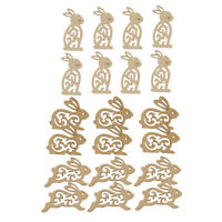 20pcs Unfinished Wooden Shape Rabbit Embellishment for Scrapbook Craft 100mm
