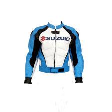 SUZUKI GSXR Cavalier Cuir Veste Cuir Biker Veste MOTOGP Moto Cuir Veste EU 54-58