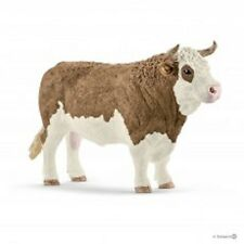 Simmental Bull Schleich 1/20 Farm Animal Plastic Toy