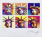 Six Liberties, Limited Edition Lithograph, Peter Max - SIGNED with COA