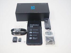New Samsung Galaxy S8 SM-G950U Midnight Black 64GB T-Mobile AT&T Unlocked