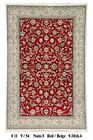 Red New Traditional Wool & Silk Nain 6x10 Area Rug