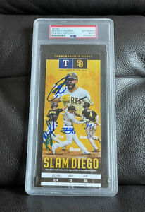 2020 SD Padres Slam Diego Signed Ticket Stub Psa/Dna Tatis, Manny, Myers, Hosmer